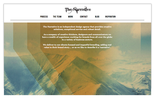 The Narrative Website, Go here to learn about our creative process